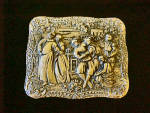 Click here to enlarge image and see more about item AAA1110: Medieval Design Metal Trinket Box