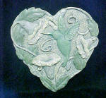 Click here to enlarge image and see more about item AAA1134: Hummingbird Plaque - Heart Shaped