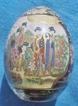 Click here to enlarge image and see more about item AAA11407: Satsuma Porcelain Hand Painted Egg