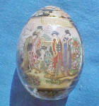 Click to view larger image of Satsuma Porcelain Hand Painted Egg (Image2)