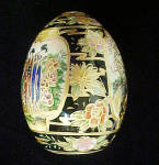Click to view larger image of Satsuma Porcelain Hand Painted Egg (Image3)