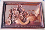 Click here to enlarge image and see more about item AAA1474: Coppercraft Guild Wall Mirror/Kitchen Motif