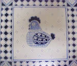 Click to view larger image of Hen Tile Trivet - Oak Wood Frame (Image2)