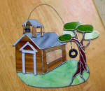 Click to view larger image of School Yard Folk Art Design Wall Hanging (Image1)