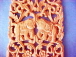 Click to view larger image of Elephant Plaque - Hand Carved - Thailand (Image2)