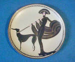 Click here to enlarge image and see more about item AAA1529: House of Erte - Symphony In Black Plate