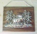 Click to view larger image of Bull Moose Silver-Toned Metal Wall Art (Image2)