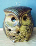 Click here to enlarge image and see more about item AAA1634: Ceramic Owl Candle Holder