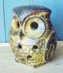 Click to view larger image of Ceramic Owl Candle Holder (Image2)