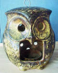Click to view larger image of Ceramic Owl Candle Holder (Image3)
