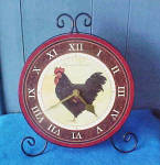 Click to view larger image of Large Rooster Counter/Wall Clock (Image1)
