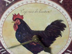 Click to view larger image of Large Rooster Counter/Wall Clock (Image3)