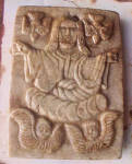 Click to view larger image of Stone Plaque of Jesus - 17th  Century (Image1)