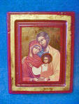 Click to view larger image of Portrait Style Holy Family - Framed (Image1)