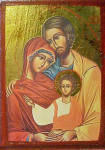 Click to view larger image of Portrait Style Holy Family - Framed (Image2)