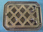 Click to view larger image of Faceted Large Stone Belt Buckle - 20th c (Image2)