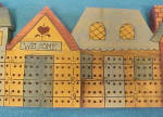Click to view larger image of Folk Art Small Town Cribbage Board (Image3)