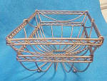 Click to view larger image of Wire Rectangular Bowl - Unique (Image2)