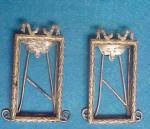 Click to view larger image of Pair Antique Art Nouveau Silver Frames (Image6)