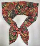 Click here to enlarge image and see more about item AAA198: Vintage Holiday Season Scarf
