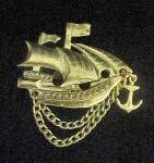 Click to view larger image of Vintage Ship Pin (Image3)