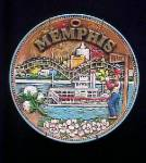 Click here to enlarge image and see more about item AAA224: Memphis Ceramic Souvenir Plate