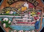 Click to view larger image of Memphis Ceramic Souvenir Plate (Image2)