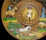 Click to view larger image of Oklahoma Ceramic Souvenir Plate - (Image3)