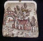 Click here to enlarge image and see more about item AAA233: Scenic Tapestry Handbag w/Accents