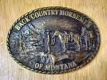 Click here to enlarge image and see more about item AAA253: Back Country Horsemen of Montana Belt Buckle
