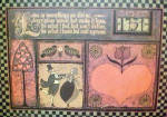 Click here to enlarge image and see more about item AAA2602: Folk Art on Board - Love Is Something
