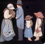 Click to view larger image of Wooden Folk Art Family - Wall Decor (Image1)