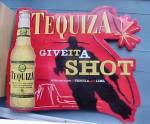 Click here to enlarge image and see more about item AAA355: Tequiza Metal Ad Wall Sign - Give It A Shot