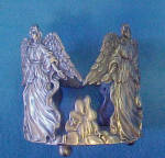 Click to view larger image of Angel Metal Bottle Holder - Sculpture (Image2)