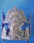 Click to view larger image of Angel Metal Bottle Holder - Sculpture (Image3)