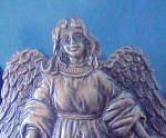 Click to view larger image of Angel Metal Bottle Holder - Sculpture (Image4)