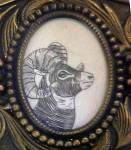 Click to view larger image of Ram Long Horn Sheep Belt Buckle (Image2)