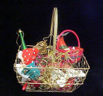 Click to view larger image of Christmas Wire Basket w/Assorted Ornaments (Image2)
