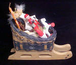 Click to view larger image of Wooden Christmas Sleigh w/Ornaments (Image2)