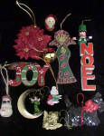 Click to view larger image of Christmas Rattan Sleigh w/Assorted Ornaments (Image3)