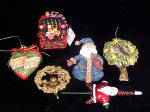 Click here to enlarge image and see more about item AAA498: Six Larger Christmas Assorted Ornaments
