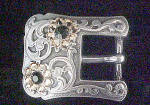 Click here to enlarge image and see more about item AAA531: Jeweled Western Belt Buckle - Ladies