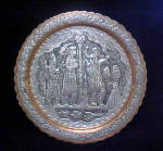 Click here to enlarge image and see more about item AAA540: Biblical Three Kings Metal Work Display Plate