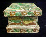 Click to view larger image of  European Ceramic Folk Art Box - 20th Century (Image3)