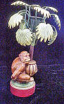 Click to view larger image of Monkey w/Palm Tree Candle-Holder (Image2)