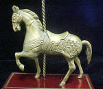 Click to view larger image of Vintage Carousel Metal Horse on Stand (Image3)