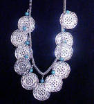Click to view larger image of Monet Filigree Silver-toned Disks w/Beads (Image2)
