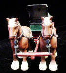 Click to view larger image of Metal Horses Pulling Wagon (Image4)
