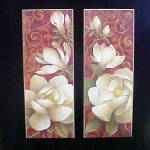 Click to view larger image of Pair of Art Prints - Delicate Magnolias (Image1)