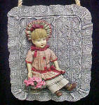 Click to view larger image of Little Girl In Period Clothes Plaque (Image1)